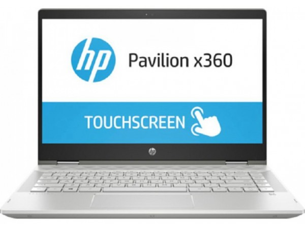 "HP Pavilion x360 14-cd1011nm, 14"" FHD, Intel Core i3  8145U, Win 10 H, Srebrena"
